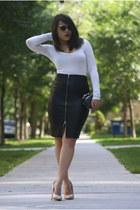 Forever 21 heels - Nordstrom purse - Forever 21 skirt - Forever 21 top