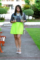 Honey Bunch skirt - Zara blouse - Urban vest - Qupid heels