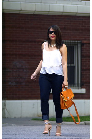 Forever 21 jeans - Rampage bag - Ray Ban sunglasses - Forever 21 heels