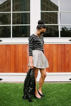 off white Forever 21 skirt - Target jacket - black Old Navy shirt