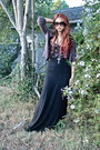 Black-floral-free-people-shirt-amethyst-cardigan-black-maxi-h-m-skirt
