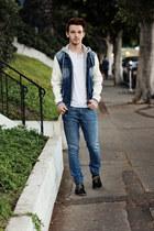 Zara jeans - oxfords Aldo shoes - leather Zara jacket - henley H&M shirt