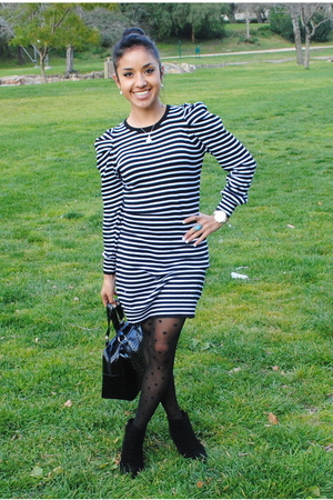 black Zara dress - black Zara tights