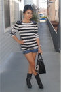 Black-forever-21-boots-forever-21-blouse