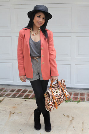 salmon vintage blazer