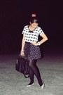 Steve-madden-bag-zara-skirt-topshop-blouse-poise-flats