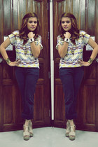 Forever21 blouse - Promod jeans - ODM watch