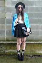 black Zara purse - black Jeffrey Campbell boots