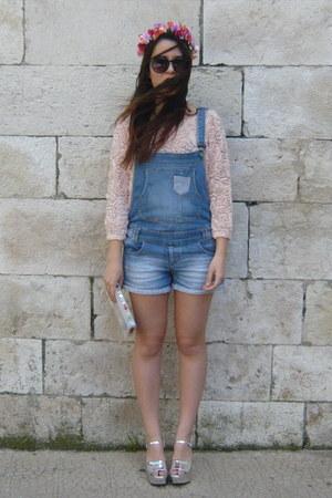 pink Zara jumper - silver Zara sandals