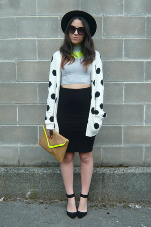 black Zara shoes - brown BLANCO purse - black H&M skirt