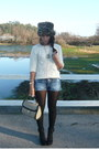 Black-promod-boots-blue-officio-jeans-brown-zara-hat-light-brown-zara-purs