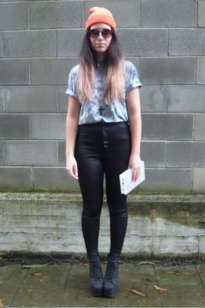 black urban og boots - sky blue nicola boraston etsy shop t-shirt