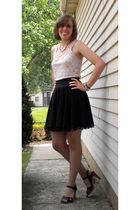 black Bass shoes - black kohls skirt - Dear by Amanda Bynes - gift necklace -