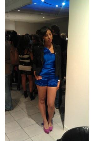 blue designs by christian sydnor jumper - black black sequined H&M blazer