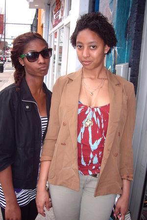 brown vintage blazer