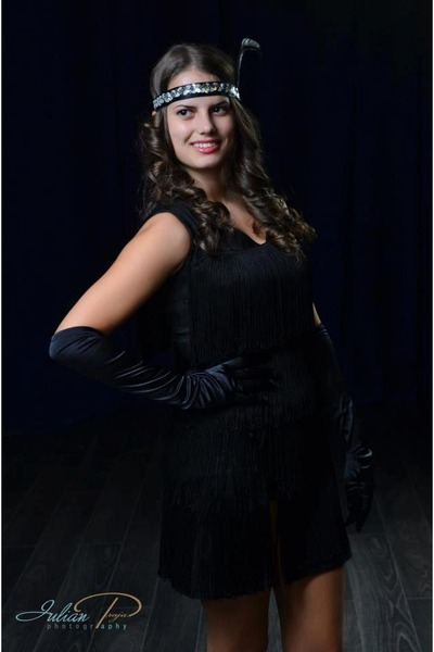 black dress - black heels