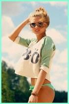 aquamarine swimwear - white blouse