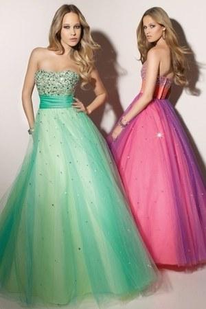 aquamarine dress - amethyst dress - light pink dress - ivory dress - ivory dress