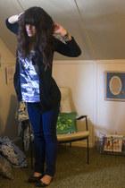 Matix jeans - f21 shirt -  cardigan