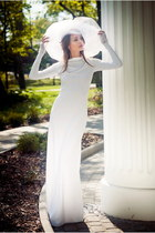 white EFL dress