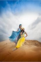 yellow EFL dress - blue sky EFL dress