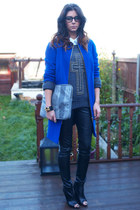 Marks & Spencer coat - Zara boots - Zara shirt - Kurt Geiger bag - Topshop pants