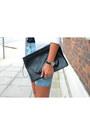 White-forever-21-blazer-black-choies-bag-sky-blue-forever-21-shorts