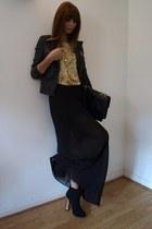 black glitter heel new look boots - black biker style Zara Trf jacket