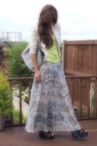 off white Zara skirt - cream Zara blazer - silver Kurt Geiger bag