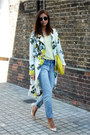 White-floral-print-asos-coat-sky-blue-fashion-union-jeans