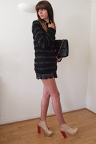 Chockers boots - Chanel bag - River Island shorts - Internacionale jumper