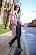 bubble gum Debenhams coat - heather gray Zara bag - black Ray Ban sunglasses