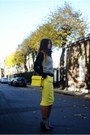 Yellow-zara-bag-black-forever-21-socks-yellow-river-island-skirt