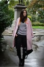 Black-zara-boots-pink-coat-black-balenciaga-bag-black-bhs-jumper