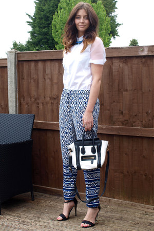 Forever 21 pants - H&amp;M shirt - Ebay bag - Primark heels - Forever 21 necklace