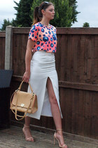 nude warehouse bag - black Primark sunglasses - white asos skirt