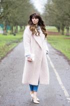 light pink River Island coat
