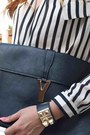 Ivory-denim-ripped-zara-jeans-black-striped-chiffon-ebay-shirt
