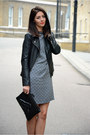 Charcoal-gray-next-dress-black-forever-21-jacket-black-choies-bag