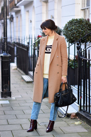 camel River Island coat