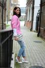 Sky-blue-zara-jeans-bubble-gum-zara-sweater-white-zara-shirt