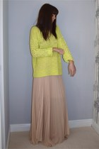 nude Jovonnisa  Topshop skirt - yellow Topshop sweater