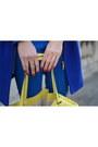 Blue-m-s-coat-blue-zara-blazer-yellow-miss-selfridge-bag