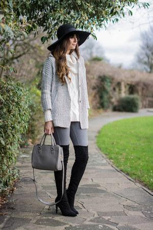 black next boots - heather gray Lookbook Store jacket