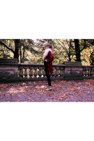 Michael Kors cardigan - Primark cardigan - snake skin vintage boots - H&M jeans