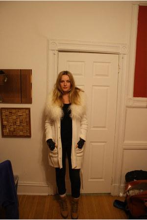 vintage Chanel gloves - Wittner boots - Michael Kors cardigan