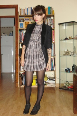 vintage shoes - viktor & rolf blazer - Zara dress
