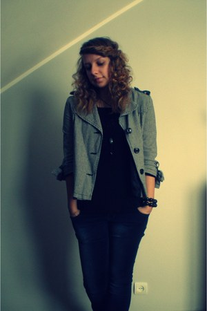 jeans - jacket - bracelet - top