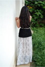 Black-knitted-h-m-top-white-handmade-by-me-skirt-black-suede-bershka-sandals