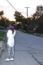 9ba2ff0dde0 ... Deep-purple-supreme-hat-h-m-leggings-jordans-sneakers ...